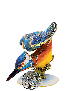 Kingfisher Treasured Trinket Box