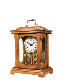Real Wood Lantern Mantle Clock