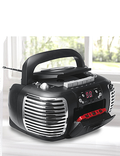 Portable Retro Radio/CD/Cassette Radio