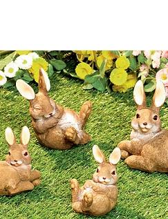 Set of 4 Garden Bunnies