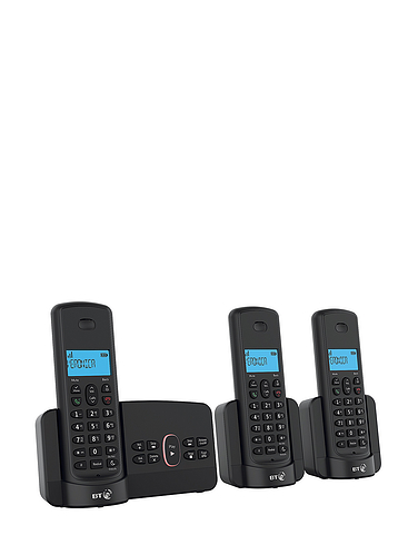 Triple BT Cordless Telephones With Answering Machine