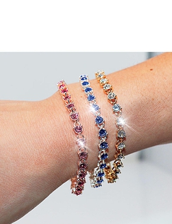 Pink Stone Swarovski Tennis Bracelet