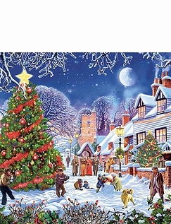 Village Christmas Tree 1000pc Jigsaw Puzzle