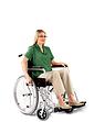 Self Propelled Lightweight Aluminium Wheelchair