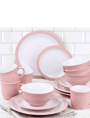 16 Piece Border Dinner Set
