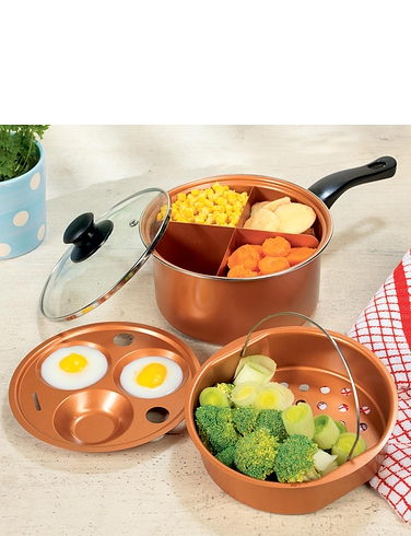 Copper Chef Multi-Use Pan - copper