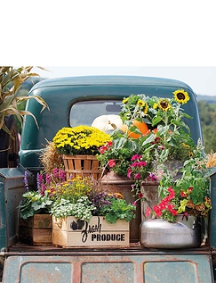 Vintage Truck with Flowers Jigsaw Puzzle