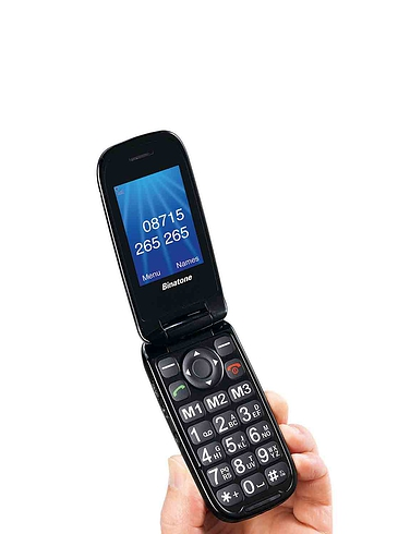 Commitment Free Big Button Mobile Telephones - Clamshell