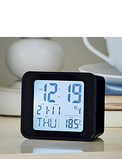 Radio Controlled Alarm Clock With Day/Date and Temperature
