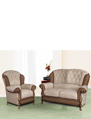 Queen Anne 2 Seater and 1 Chair