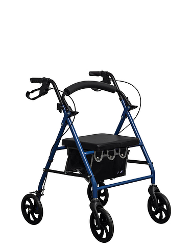 Folding Rollator with Flip-up Seat