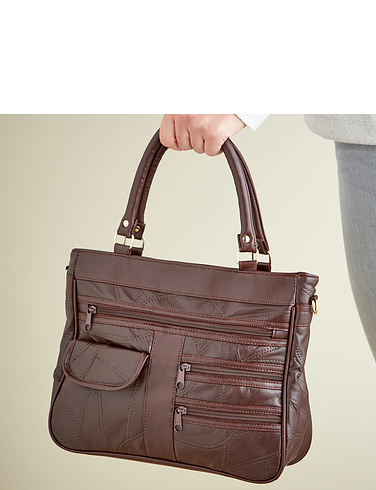 Leather Organiser Handbag