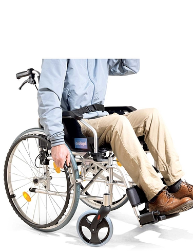Self-Propelled Aluminium Wheelchair