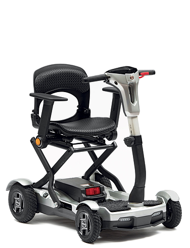 Deluxe Folding Lightweight 4 Wheel Scooter