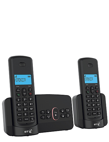Twin BT Cordless Telephone With Answering Machine