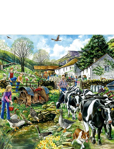 Another Day On The Farm 1000 Piece Jigsaw