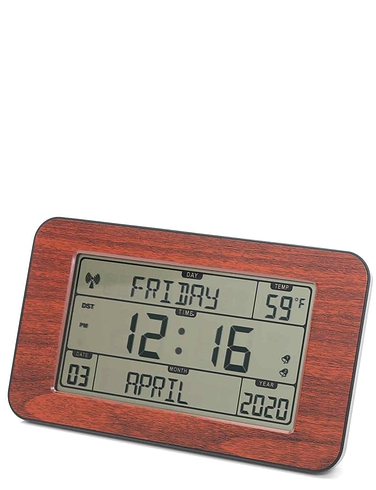Easy to Read Radio Control Wood Effect Clock