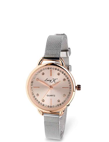 Lucy K Two Tone Watch with Crystals