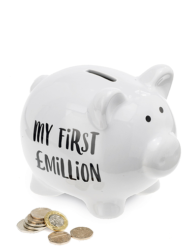 Penniless And Dreams My First Million Piggybank