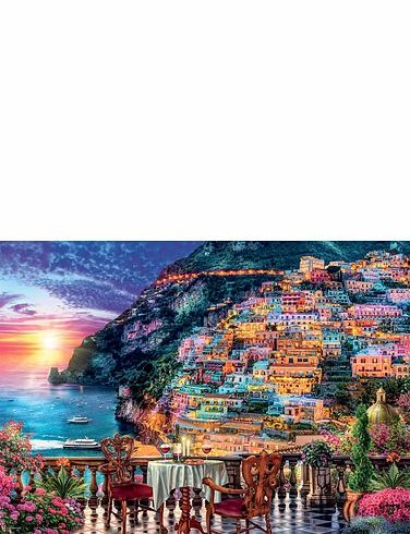 Dinner In Positano Jigsaw Puzzle