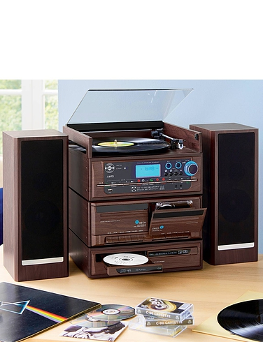 6 In 1 Wood Effect Music Stack System