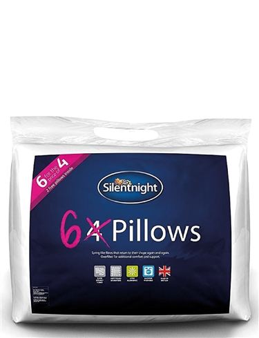 6 Pack Silentnight Pillow