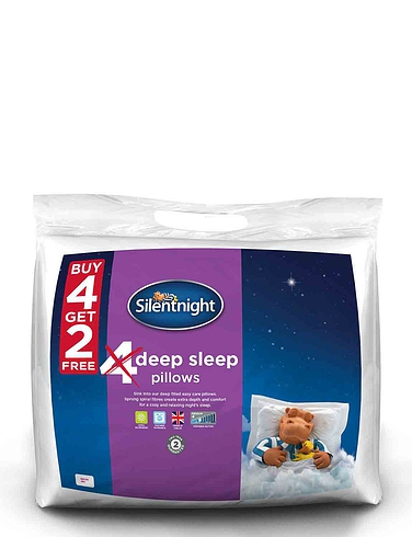 Silentnight 6 Pack Deep Sleep Luxury Pillows