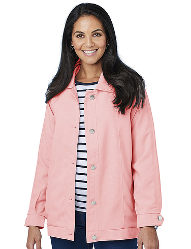 Blouson Jacket With Piping