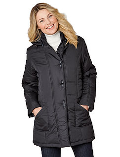 Showerproof Toggle Fastening Quilted 3/4 LengthJacket