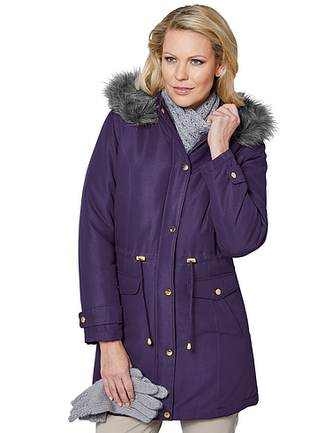 Ladies Microfibre Parka Jacket