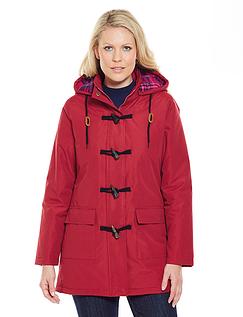 Check Fleece Lined Toggle Jacket