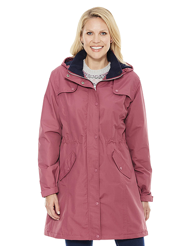 Fleece Lined Waterproof Fabric Jacket 36 Inch