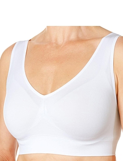 Pack of 3 Comfort Bras by Eden House - White