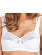 Cushioned Strap Padded Lace Trim Soft Bra