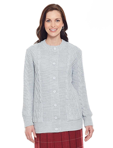 Ladies Classic Cable Cardigan