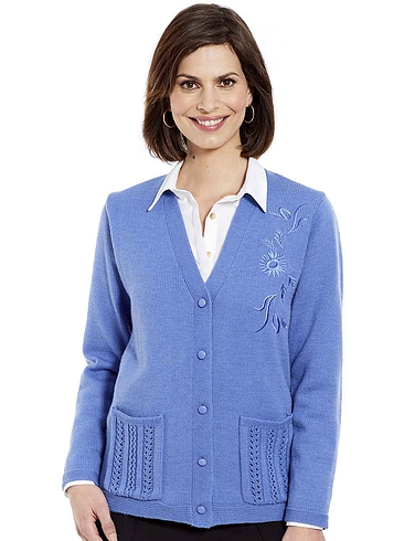 Ladies' Embroidered Cardigan