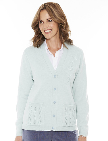 Ladies Embroidered Cardigan