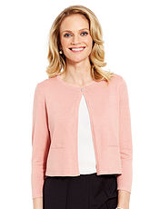 Diamante Button Shrug