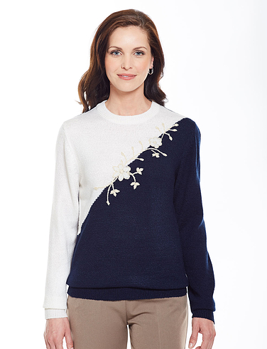 Ladies Swoosh Embroidered Jumper