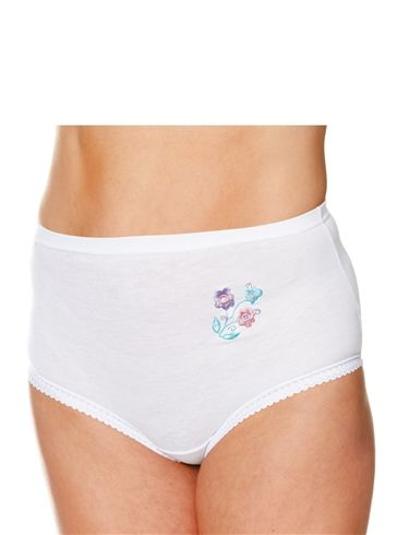 Pack Of Three Embroidered Maxi Briefs