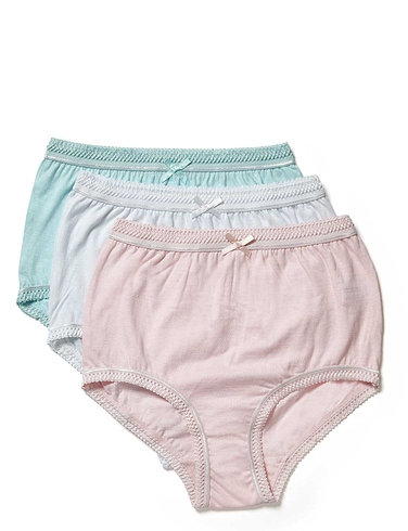 Pack Of 3 Pastel Full Briefs