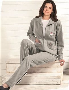 Embroidered Leisure Suit