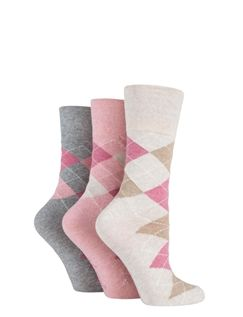 Ladies 3 Pack Gentle Grip Socks