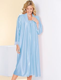 Ladies Pack of 2Satin Nightdress& Wrap