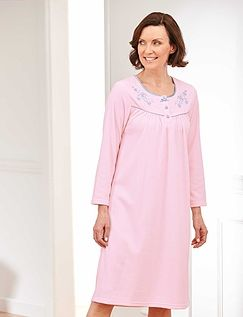 Embroidered Microfleece Nightdress
