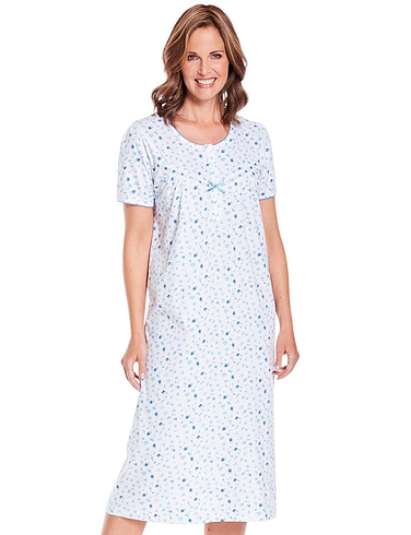 Cotton Jersey Floral Print Nightdress