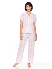 Stripe Embroidered Pyjama