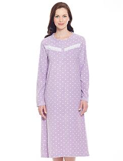 Eva Spot Fleece Nightdress