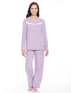 Eva Spot Fleece Pyjama