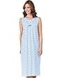 Sleeveless Cotton Jersey Nightdress Spot Design